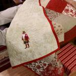 Steampunk Santa embroidered quilt back