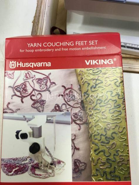 Husqvarna Viking Yarn Couching feet jenny skip