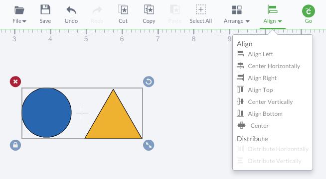 Cricut Design Space - April 2015 - Align & Distribute