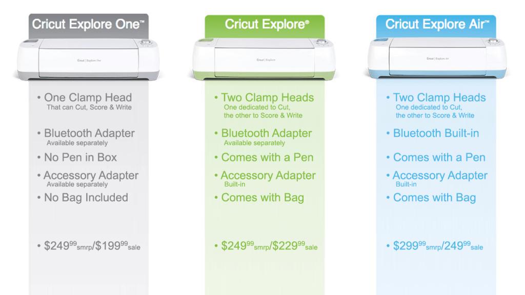 Cricut Explore One Comparison