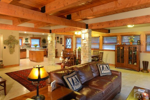 Living Room Main Floor - The Craftsman Lodge