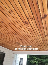 How To Clean and Refinish A Porch Wainscot Ceiling ...