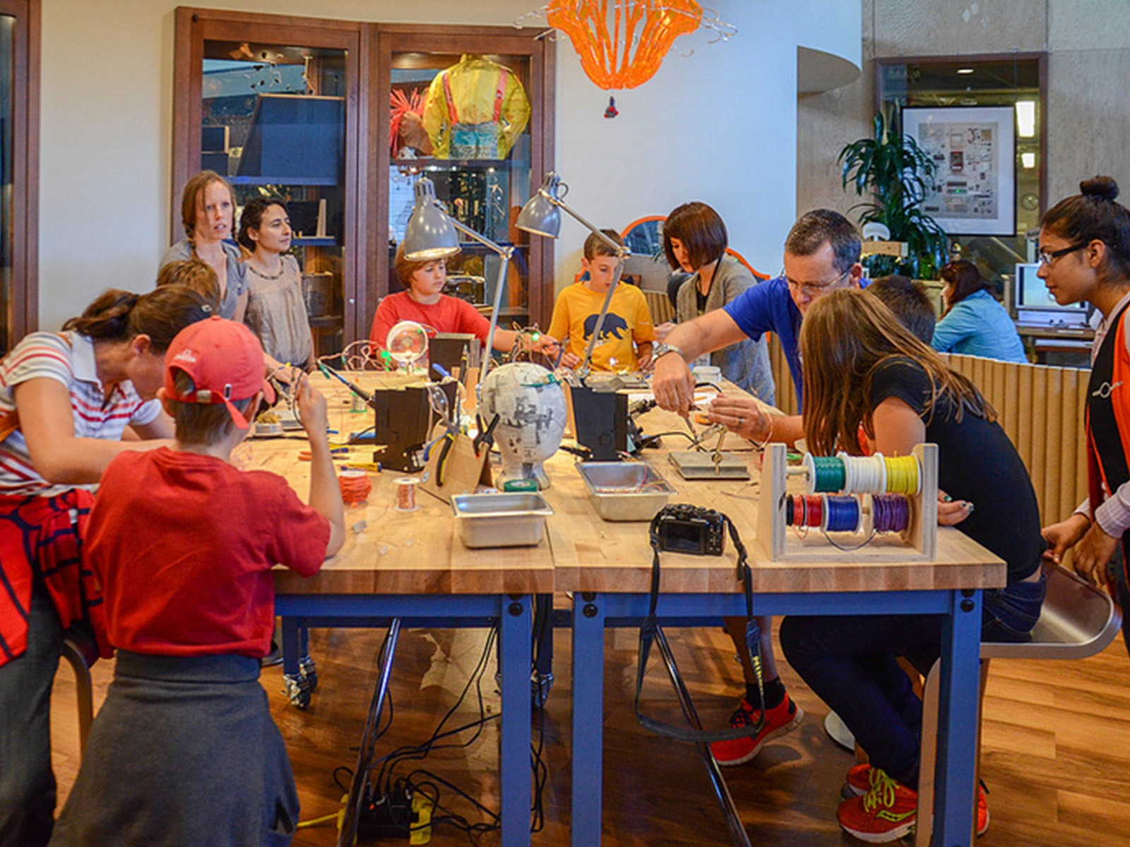 The Tinkering Studio, and The Exploratorium as a whole, draws 1.1 million children and adults every year. Participants get to work with resident makers and artists to design all manner of mechanisms, both practical and fantastical.