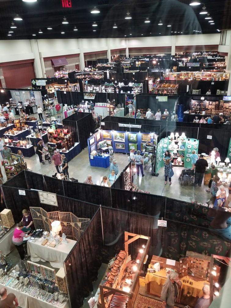 Birds Eye View of the Gatlinburg Craftsmen's Fair at the convention center