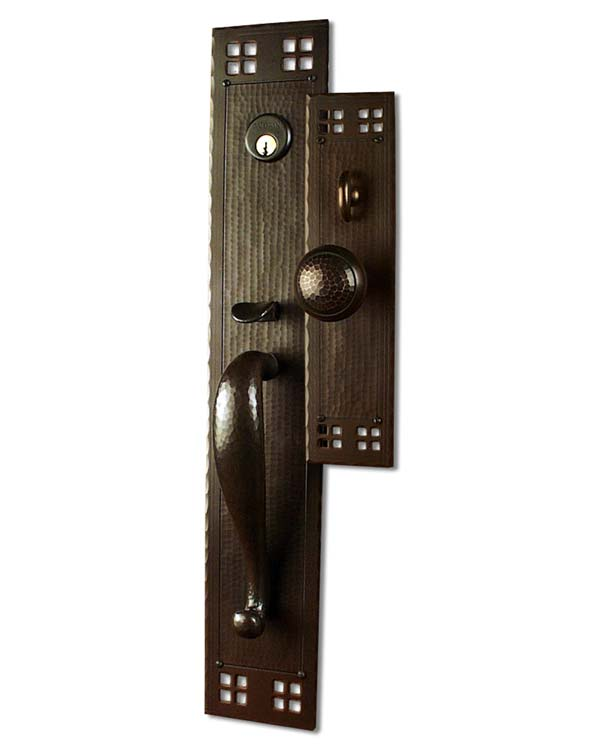 Arts and Crafts Style Hand Crafted Copper Large Entry Sets