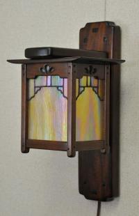 Arts and Crafts, Greene and Greene Style Wall Sconce and ...
