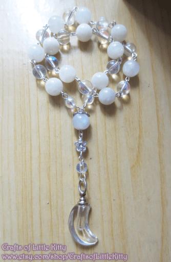 2017 Design, Moon Goddess Prayer Beads.