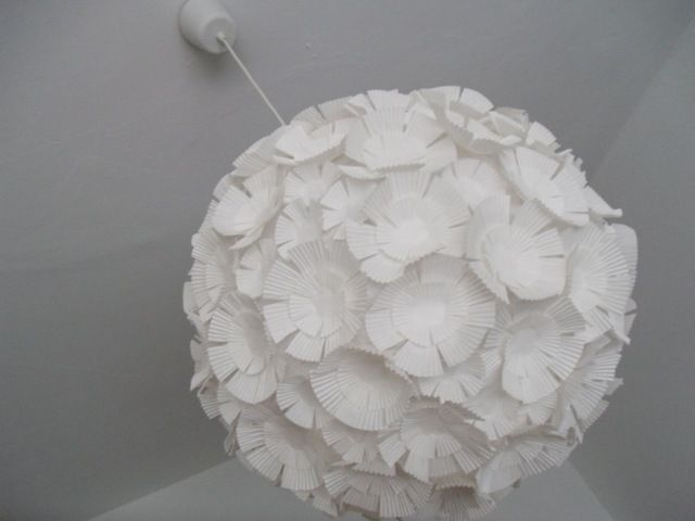 Cupcake Liner Pendant Light