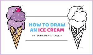 ice cream draw drawing tutorial steps easy step craftsonfire combinations