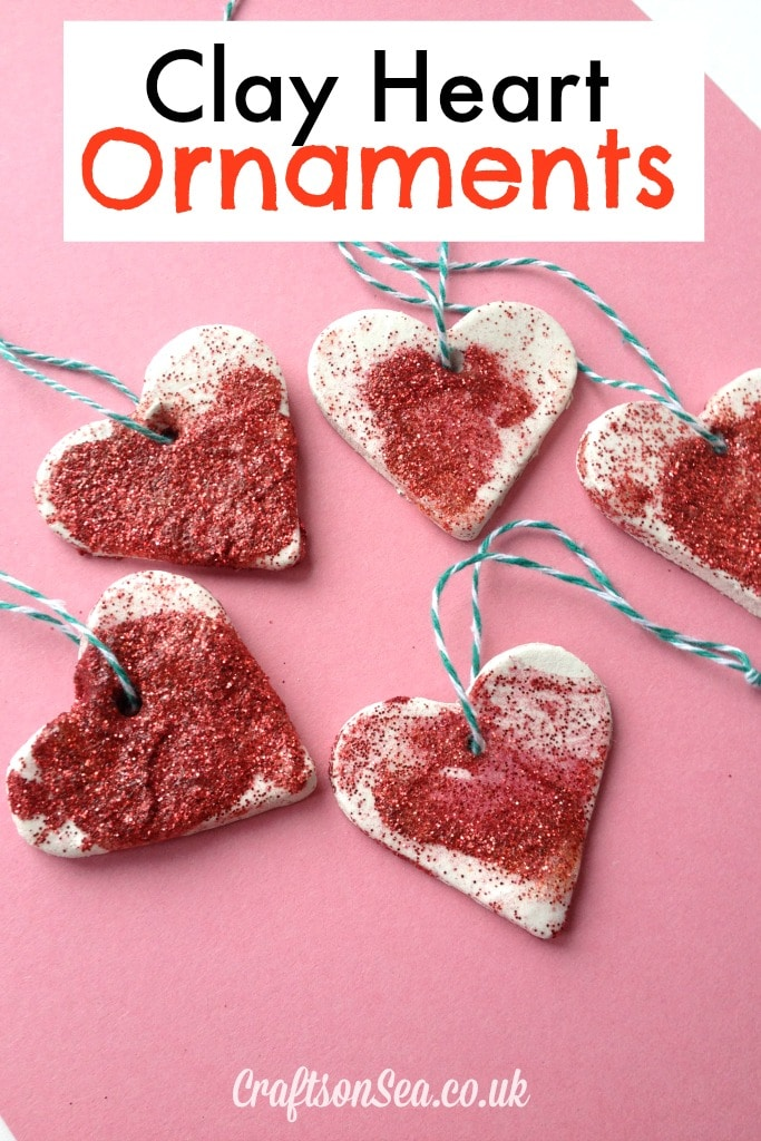 Clay Heart Ornaments Crafts On Sea