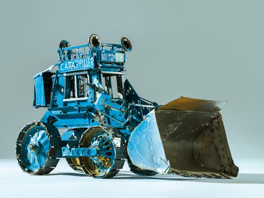 catapiller digger made from recycled materials