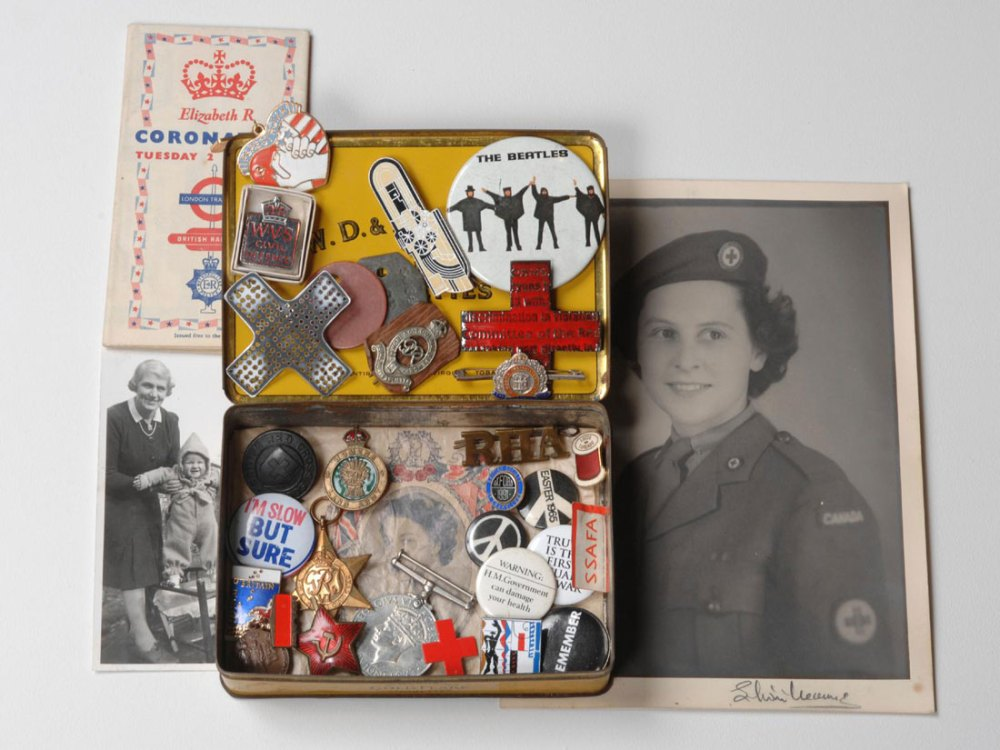 Memorabilia and photos from the 1940's.