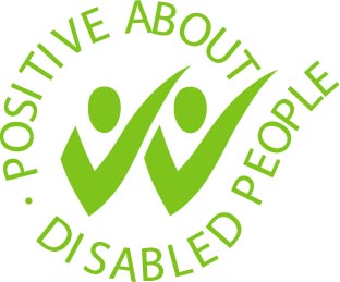 Positive about disabled people logo.