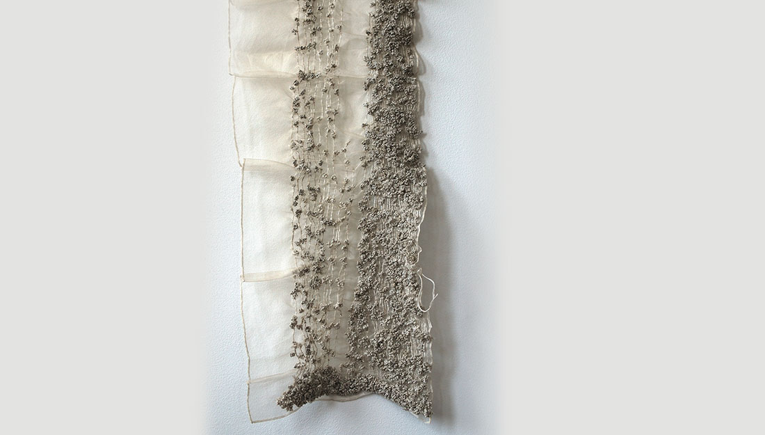 textile artwork knotted sheet