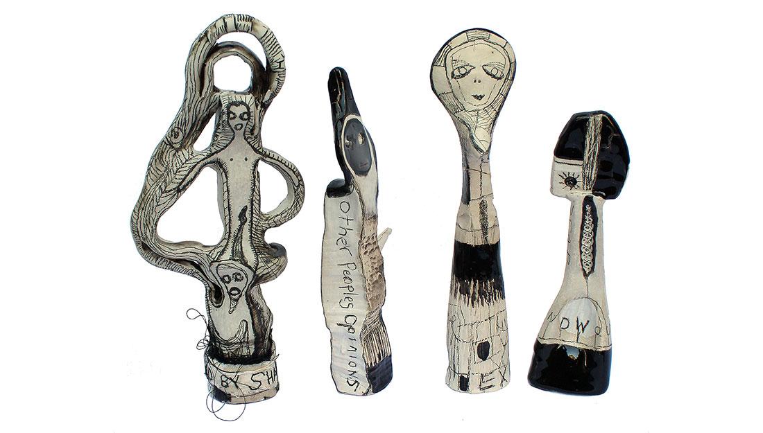four ceramic sculpture