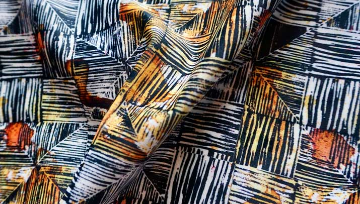 Dyed fabric.