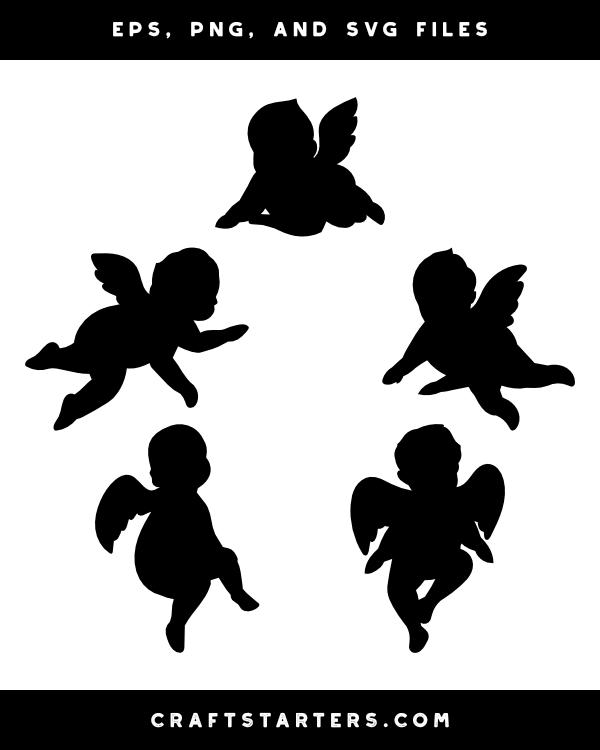 Angel baby svg | Etsy