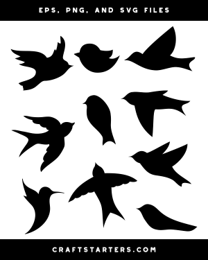 silhouette bird simple clip svg craftstarters illustration birds silhouettes drawings creative