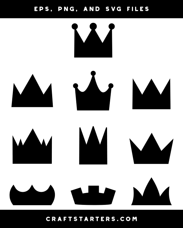 Simple Crown Clipart : simple, crown, clipart, Simple, Crown, Silhouette
