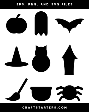 halloween silhouette simple clip