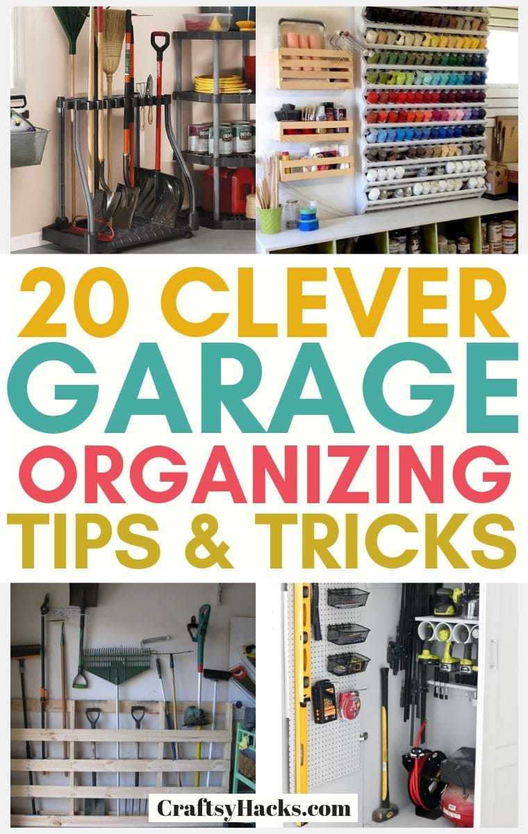 20 Brilliant Garage Organizing Ideas Craftsy Hacks