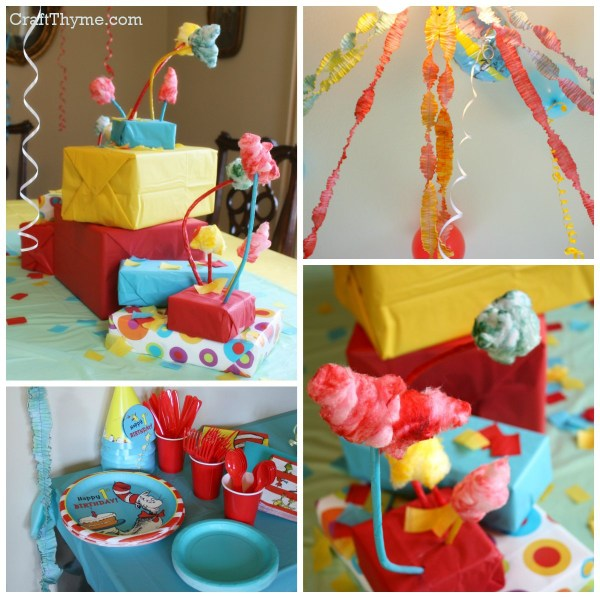 Dr. Seuss inspired first birthday party
