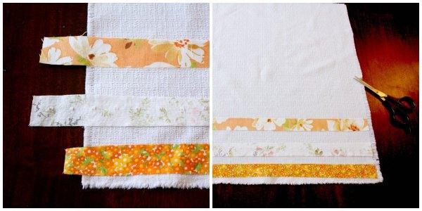 Finishing no-sew cloth napkins