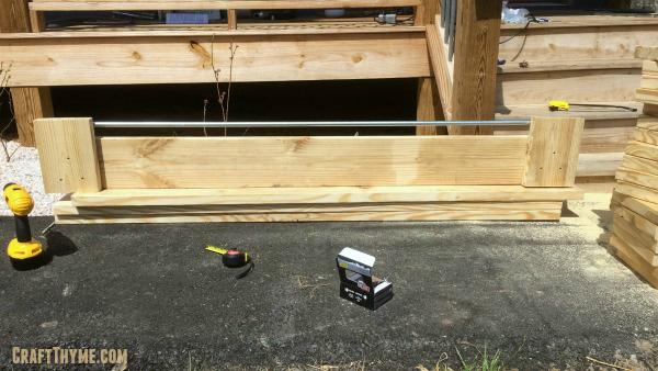 Wooden Planter Box Side