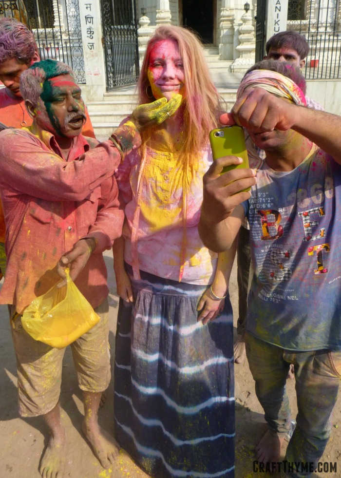 Our trip to Holi in India: Vrindivan Colors
