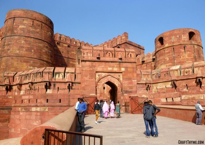 Our trip to Holi in India: Red Fort, Agra