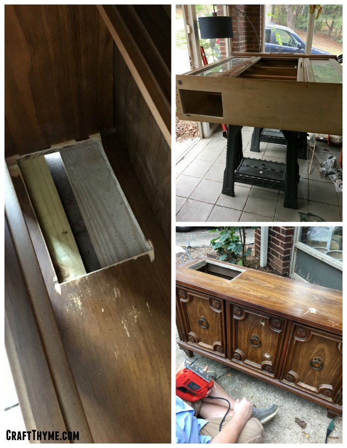 Rough cuts are all that is needed to make this indoor rabbit hutch