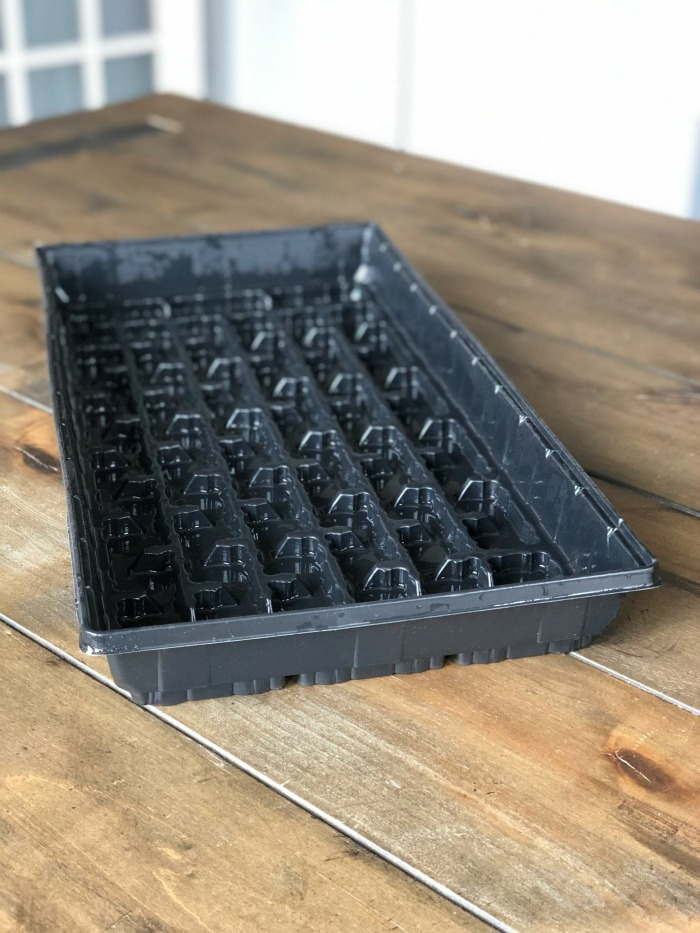 Make sure the thoroughly sanitize any seed trays before use.
