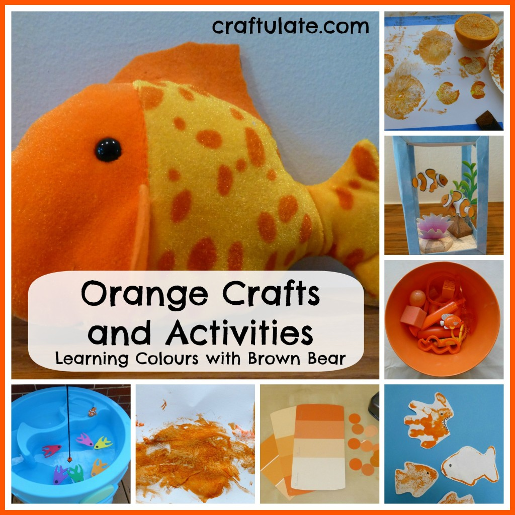 Orange Crafts And Activities Learning Colours With Brown