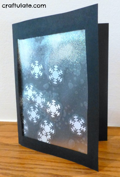 Snowflake Card Craft For Little Kids To Make Craftulate