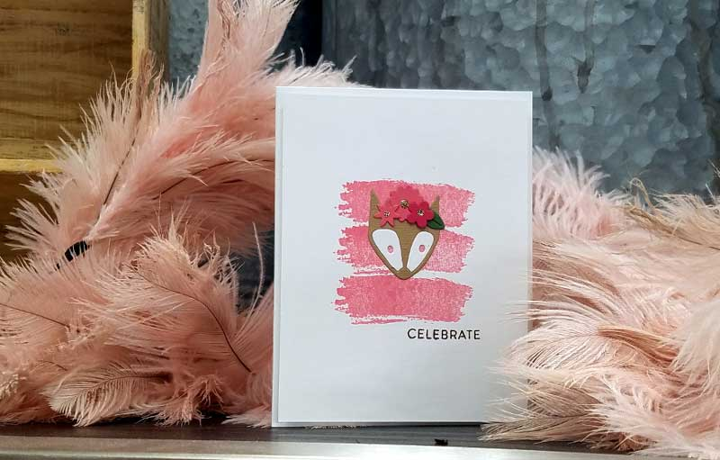 Flower Fox Card