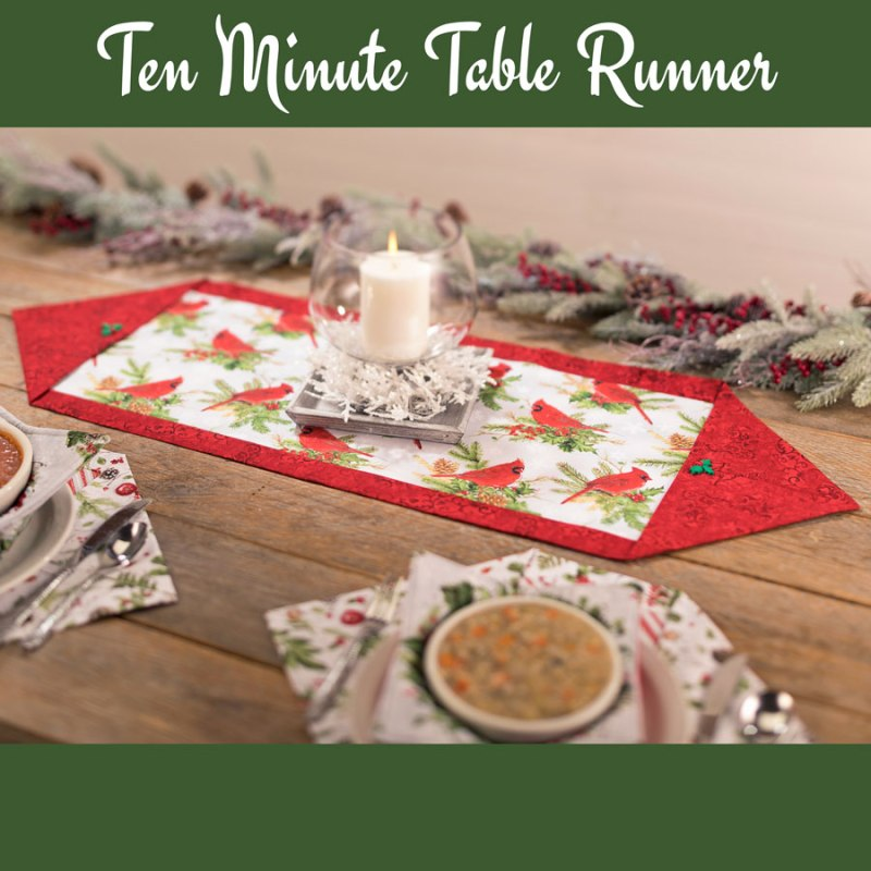 Make this 10 Minute Table Runner