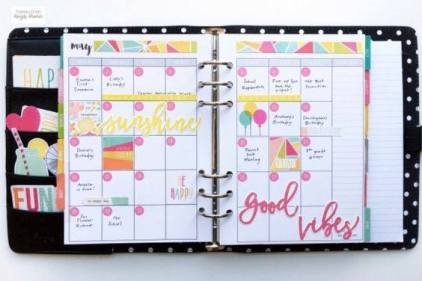 Filled Out Paper Planner - How to start a planner