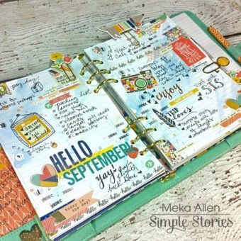Carpe Diem Planner filled out from Simple Stories