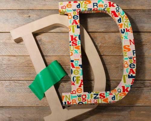Paper Mache Washi Tape Letter