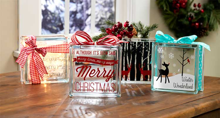 holiday glass blocks - Glass Block Christmas Decorations