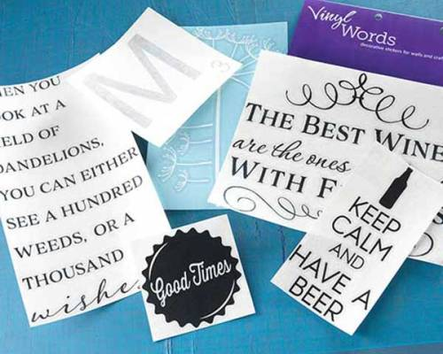 Vinyl Words, Sayings, and Letters