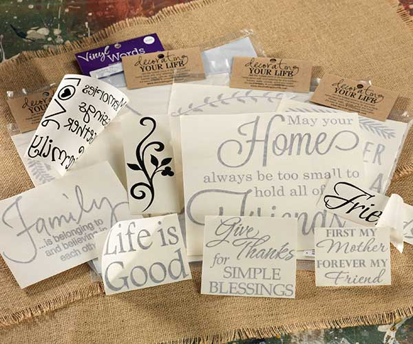 Vinyl Words, Sayings, Letters, and Images | Craft Warehouse