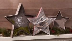 Wood Star Trays