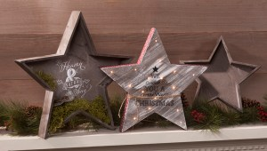 Wood Star Trays