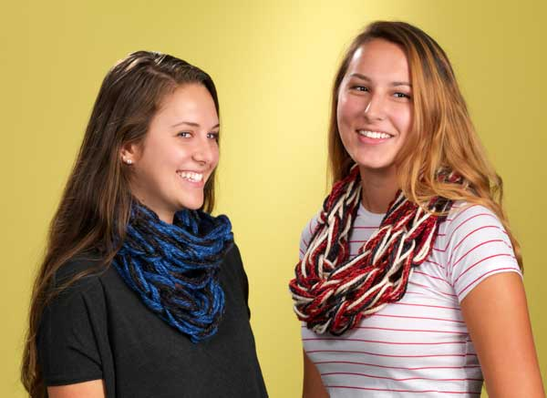 Arm Knitting Scarves
