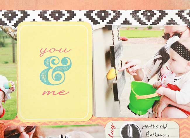 Project Life Cards on a Tradtional Scrapbook Page