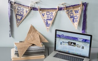 College Week! Burlap and Fabric Pennants