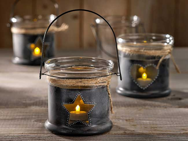 Chalkboard DIY Glass Candle Holder