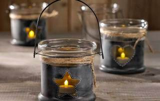 Chalkboard DIY Glass Candle Holder
