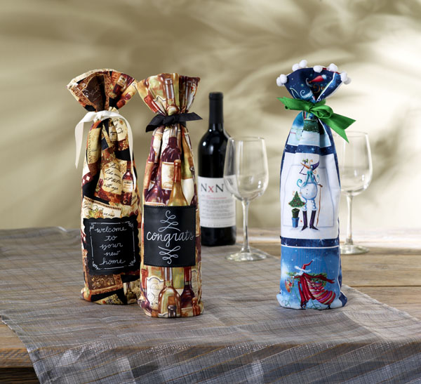 Fabric Wine Gift Bag